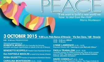 "The international conference ""EDUCATION AND PEACE"" – October 3rd 2015 – Brescia – Italy"